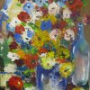 Bunch of flowers and a little apple Canvas, oil  31х41 2011